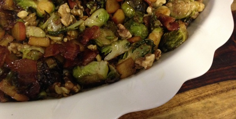 Bacon + Brussels Sprouts = Delicious.